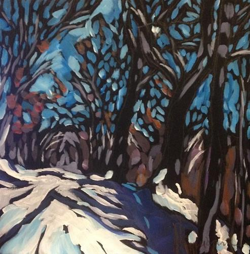 """Northern Woods, January"" original fine art by Kat Corrigan"