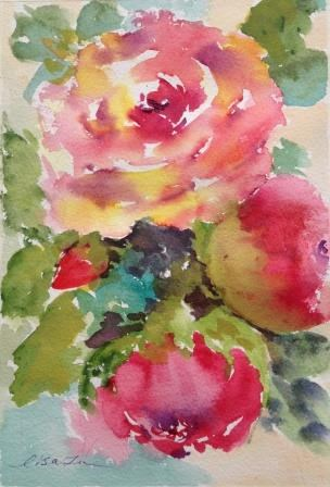 """Love of Roses"" original fine art by Lisa Fu"