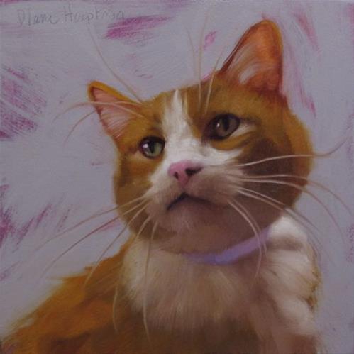 """Orange Tuxi + Video of painting in progress"" original fine art by Diane Hoeptner"