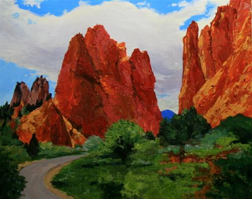 """Garden of the Gods"" original fine art by Jean Nelson"