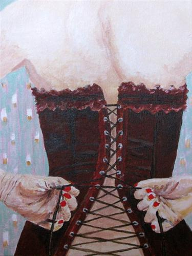 """""""Lace Me Up"""" original fine art by Nan Johnson"""