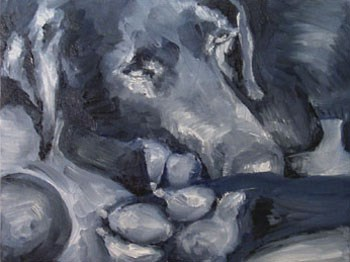 """""""Nessie Doggie"""" original fine art by Anne Ducrot"""