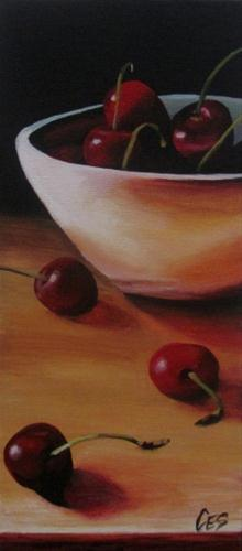 """""""Cherry Arrangement"""" original fine art by ~ces~ Christine E. S. Code"""