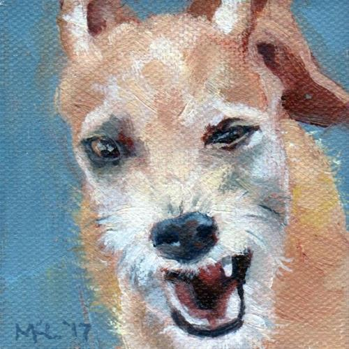 """Little Dog Complex"" original fine art by Marlene Lee"