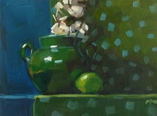 """Hint of Lime --- SOLD"" original fine art by Carol Marine"