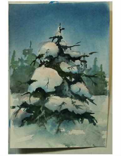 """""""Always, Ever Green"""" original fine art by Sue Dion"""