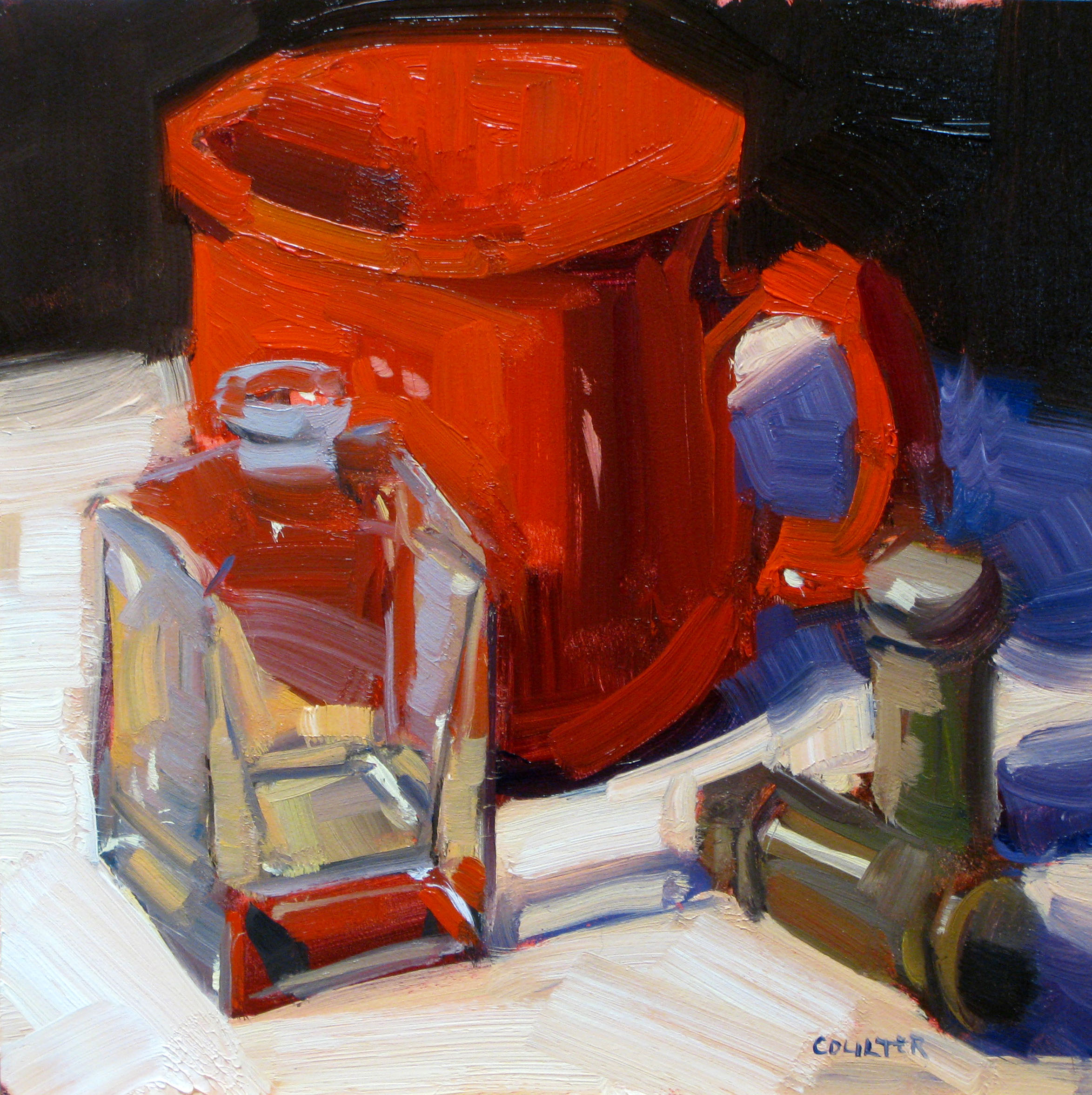 """""""Red Cup"""" original fine art by James Coulter"""