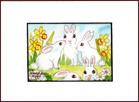"""The Bunny Patch"" original fine art by Patricia Ann Rizzo"