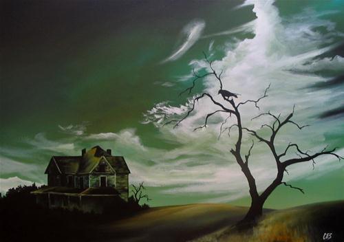 """""""Nevermore"""" original fine art by ~ces~ Christine E. S. Code"""