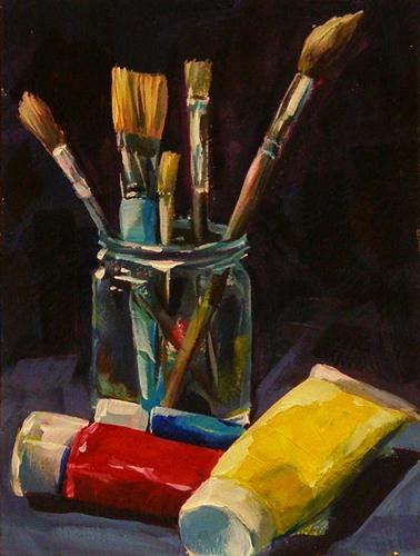 """PRIMARY COLORS"" original fine art by Brian Cameron"