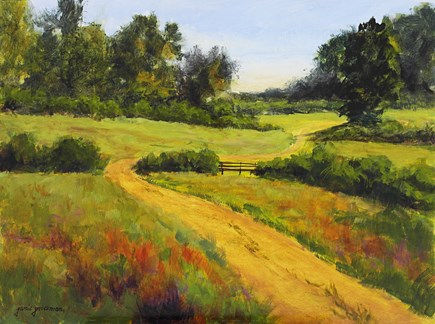 """Hillside Journey"" original fine art by Jamie Williams Grossman"