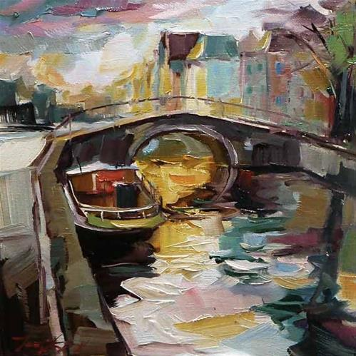 """Die Brücke"" original fine art by Jurij Frey"