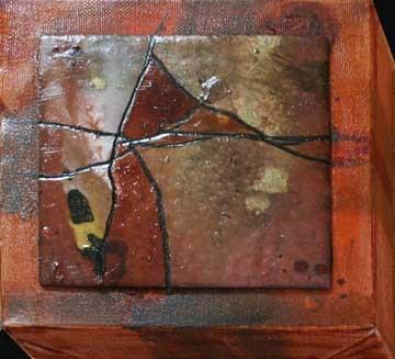 """""""Little Brown Abstract"""" original fine art by Kara Butler English"""