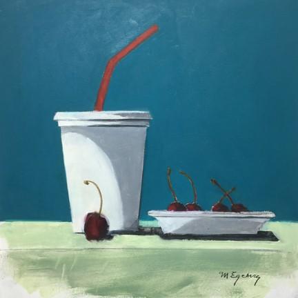 """""""Cherry Drink"""" original fine art by Mitch Egeberg"""