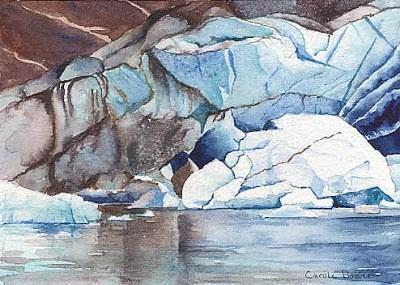 """""""Reid Glaicier #2"""" original fine art by Carole Baker"""