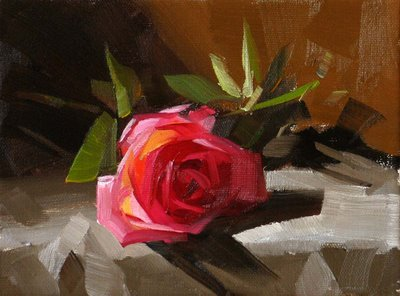 """Another Rose --- Sold"" original fine art by Qiang Huang"