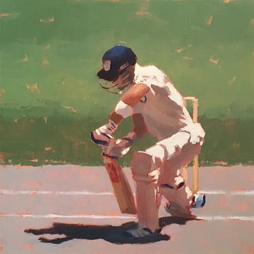 """""""BATSMAN SERIES #8 of 9"""" original fine art by Helen Cooper"""