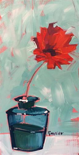 """Flower Sketch No.1"" original fine art by Teddi Parker"