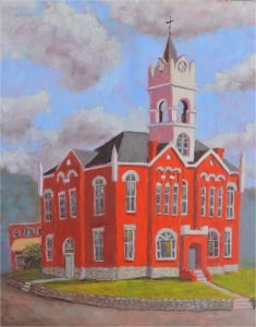 """The Old Courthouse"" original fine art by Robert Frankis"