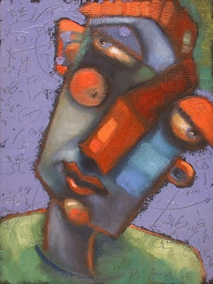 """Question Of Balance"" original fine art by Brenda York"