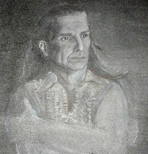 """Indian Larry"" original fine art by Barbara Lemley"