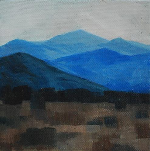 """Blue Mountains"" original fine art by J M Needham"