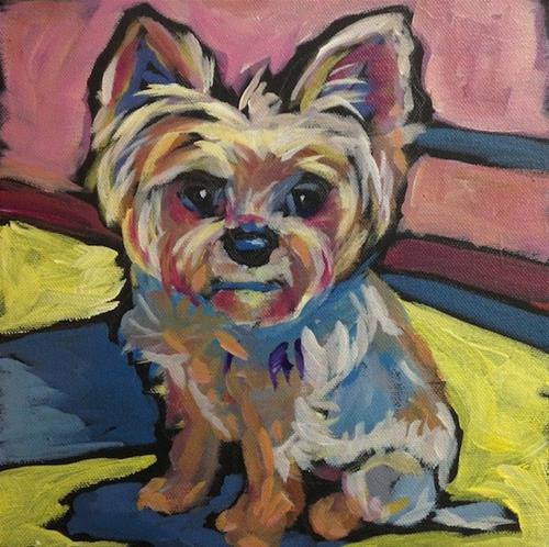"""Oscar"" original fine art by Kat Corrigan"