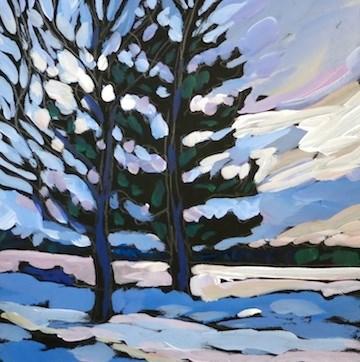 """Lake Calhoun, Wednesday Afternoon, January 2014"" original fine art by Kat Corrigan"