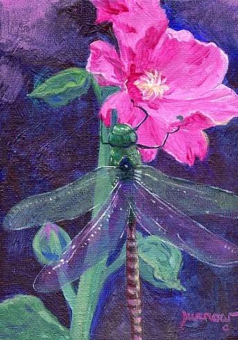 """Original Painting - Dragon Fly No. 23"" original fine art by Sue Furrow"
