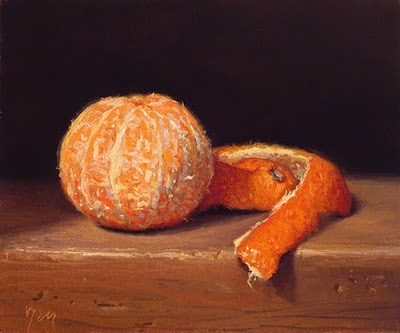 """""""Clementine with Peel - fundraiser"""" original fine art by Abbey Ryan"""