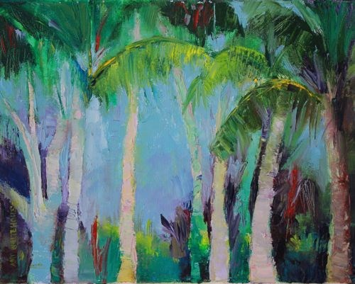 """""""Today In Paradise, Luke 23:43, Landscape Paintings by Arizona Artist Amy Whitehouse"""" original fine art by Amy Whitehouse"""