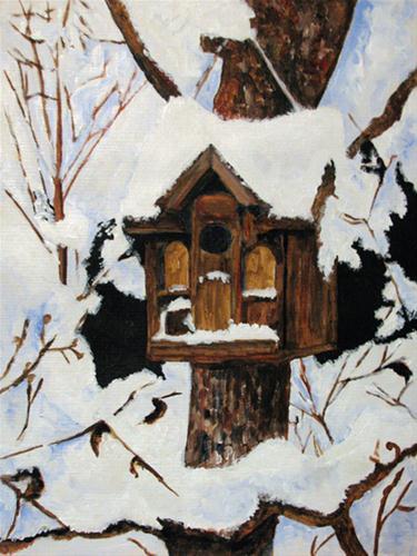"""""""Summer Rental"""" original fine art by Nan Johnson"""