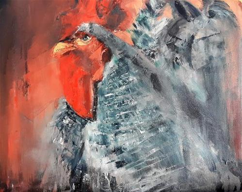 """""""Roosting at Innibos"""" original fine art by Rentia Coetzee"""