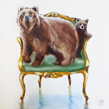 """bearly"" original fine art by Kimberly Applegate"