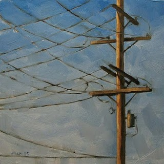 """Criss Cross"" original fine art by Michael Naples"