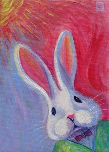 """4070 - Bobby Bunny"" original fine art by Sea Dean"