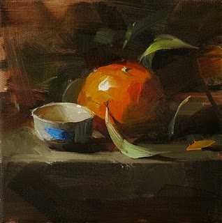 """A Small Cup"" original fine art by Qiang Huang"