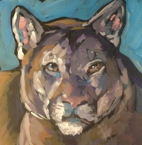 """""""Catamount"""" original fine art by Kat Corrigan"""