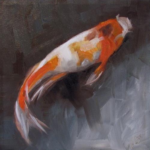 """""""Swimming Alone"""" original fine art by ~ces~ Christine E. S. Code"""