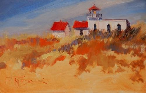 """""""Point no Point Light House Lighthouse oil painting by Robin Weiss"""" original fine art by Robin Weiss"""