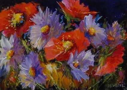 """""""Floral Landscape"""" original fine art by Alice Harpel"""