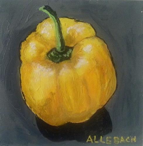 """Yellow Pepper"" original fine art by Jo Allebach"
