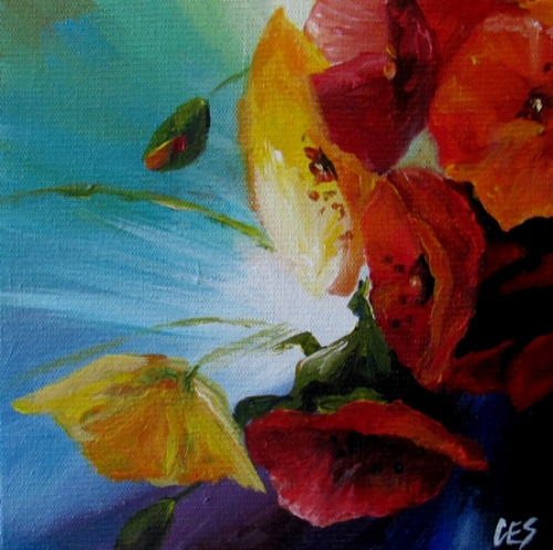 """California Poppies"" original fine art by ~ces~ Christine E. S. Code"