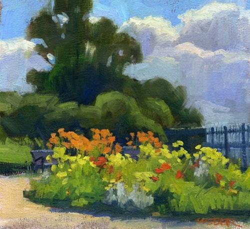 """Daylilies by the bay"" original fine art by Kathy Weber"
