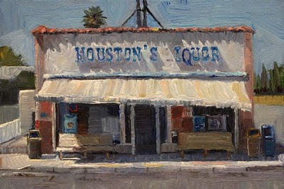 """Houston's Iquor Store"" original fine art by Raymond Logan"