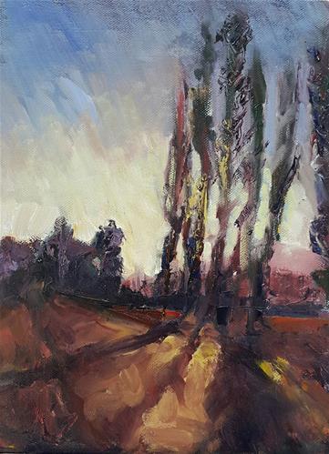 """Clarens according to Van Gogh"" original fine art by Rentia Coetzee"