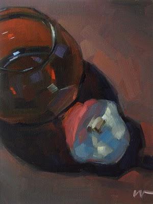 """Transparent Red"" original fine art by Carol Marine"