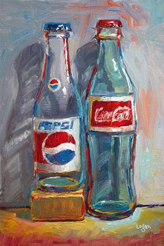 """Pepsi and Coke"" original fine art by Raymond Logan"
