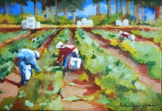 """No Farms,No Food"" original fine art by JoAnne Perez Robinson"