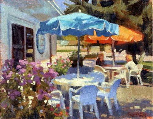 """The Ice Cream Cafe"" original fine art by Kathy Weber"